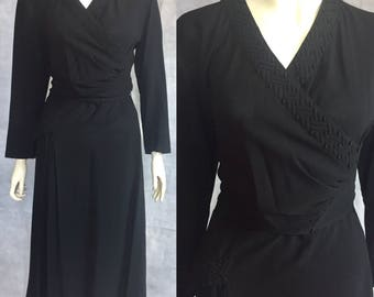 1940s formal / evening / cocktail dress trapunto quilting