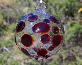 OOAK Hand blown Borosilicate Glass Christmas ornament 184