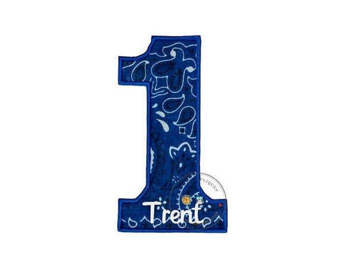 Royal blue bandanna birthday number one