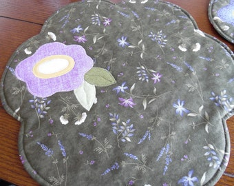 Placements, wildflower placemats, round flower placements,spring placemats, Easter placemats, Mother's day placemats, colorful placemats