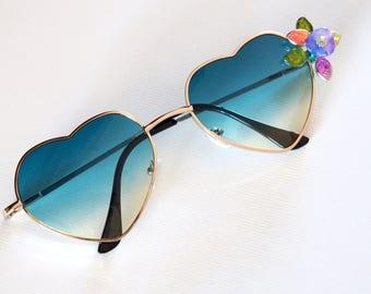 Green Heart sun glasses