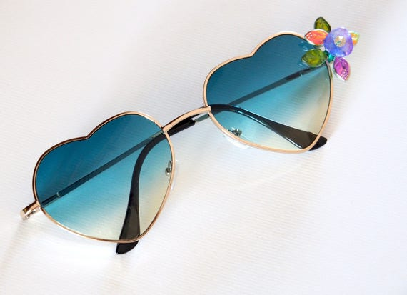 Green Heart sun glasses