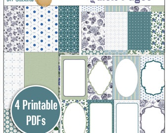Vintage Blue Happy Planner Quick Pages /Bible Journalling / Planner Quick Pages 4 PDF Printables, Fit Happy Planner, Christian Stickers