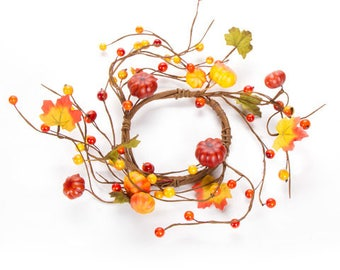 fall candle ring primitive fall decor pumpkin candle rings