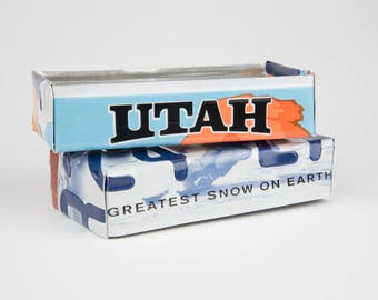 Utah license plate box - father's day gift - gift for mom's dad's and grad's - teacher gift - graduation gift - graduation gift box