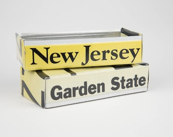 New Jersey license plate box - father's day gift - gift for mom's dad's and grad's - teacher gift - graduation gift - graduation gift box