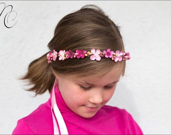 GAIA: Crown pink flowers and berries child - wedding