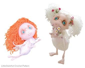 2 Crochet Patterns - Angels Zu and Shu - Amigurumi soft toy PDF file by Pertseva Etsy