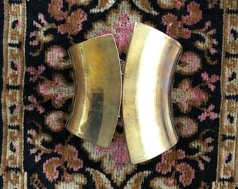 Vintage Asymmetrical Brass Bangle