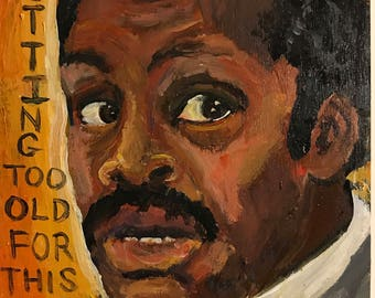 Lethal Weapon Murtaugh painting