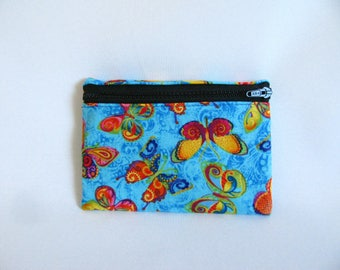 Medium Pouch- Butterfly cotton