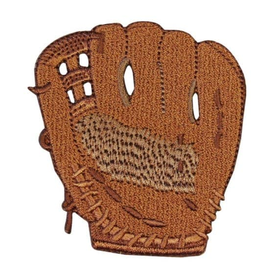 id 1457 baseball mitt glove patch fun kids sport embroidered. Black Bedroom Furniture Sets. Home Design Ideas