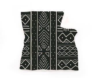 Lovey Black Mudcloth. Lovey. Black Lovey. Mudcloth Lovey. Mini Baby Blanket. Security Blanket. Lovie. Minky Lovey.