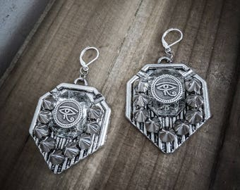 Silver earrings Egyptian Horus 666♠ ♠666