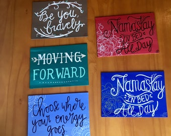 """5"""" X 7"""" Free Hand Quote Painting"""