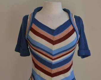 1970s Chevron Striped Sweater