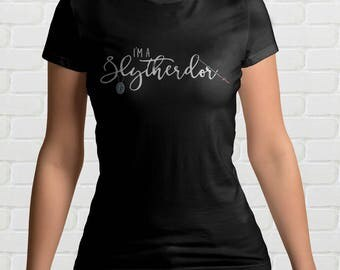 I'm A SLYTHERDOR Ladies T-Shirt | Mixed Hogwarts House | Harry Potter Gift