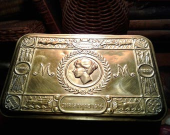 English Princess Mary 1914 brass gift box