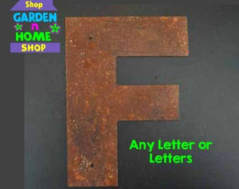 "3"" Rusted Metal Letters"