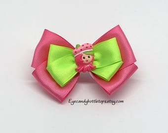 Strawberry Shortcake Pink Hair Bow