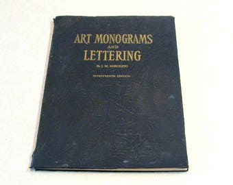 1946 Art Monograms and Lettering, by J. M. Bergling