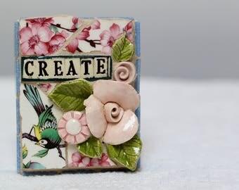 CREATE mosaic, pique assiette, mosaic art