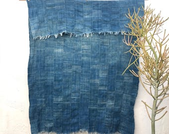 Mossi Cloth African Fabric   Vintage Textile Indigo Mudcloth African Indigo Cloth African Fabric Indigo fabric Indigo Throw Beach Blanket 13