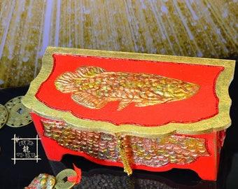 Exclusive!!! Сash box, Feng Shui Money Box, Arowana feng shui, Arovana feng shui, DragonFish feng shui,  Feng Shui gifts, Hieroglyph Wealth