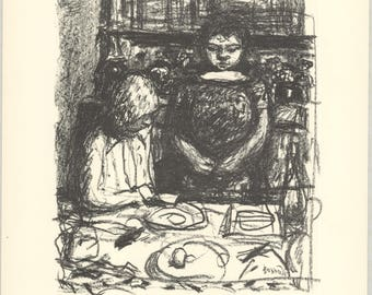 Pierre Bonnard-Le Menu-1974 Lithograph
