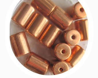 Copper, Tube, Spacer, Vintage, Seamless, Copper, Barrel, Beads, 9x7MM,