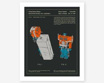Optimus 1985 (Giclée Fine Art Print, Photo Print or Poster Print) dark version