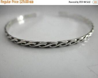 10%0FF Infinity design sterling silver cuff bracelet - skinny cuff - skinny sterling silver cuff - pattern cuff bracelet - solid 925 sterlin
