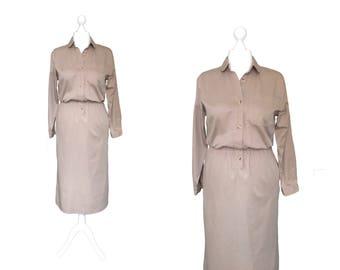Vintage Dress | Shirt Dress | Lands End Dress
