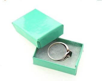 On Sale 30% OFF -3.5x3.5 Teal Bargain Bin Discounted (10 Pack) Large Jewelry Presentation/Display/Gift Boxes