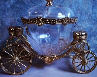 Franklin Mint Crystal Carriage/Cinderella/Sugar Bowl