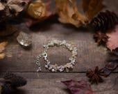 Bracelet citrine quartz rutilé pierre de lune . Danses des lueurs .