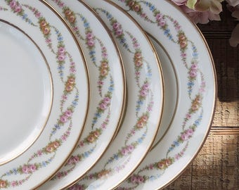 Limoges M. Redon Salad Plates Set Of 4 Lunch Plates Pattern #182