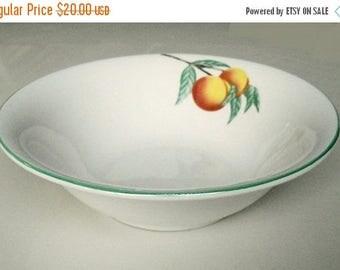 3-day SALE Vintage Citation Stoneware Bowl, Garden Trellis, Fruit Salad Vegetable serving bowl, ovenware kitchenware
