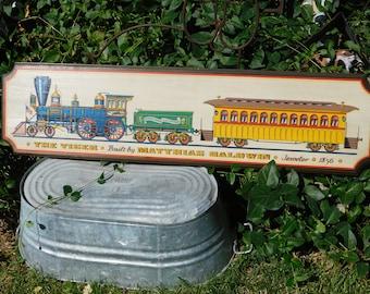 Yorkraft Inc Train Picture The Tiger, Built By Matthias Baldwin Jeweler 1856, Pennsylvania,  Train Picture, Trains, Vintage Home Decor, Prop
