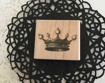 Tiara Crown Stamp / Rubber Stamp Crown NEW Great for Cards, Journals, Tags , Mixed Media, etc.