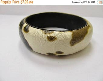 ON SALE Vintage Cowhide Style Bangle Bracelet Item K # 314
