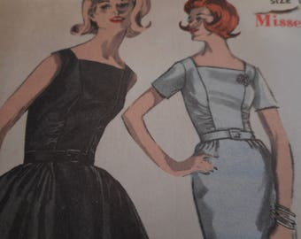 Vintage 1950's Advance 2926 Dress Sewing Patten Size 14 Bust 34