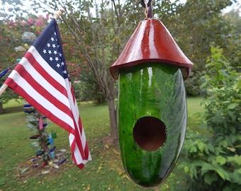 Capped Gourd Birdhouse