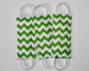 Green Chevron Door Silencer, door muff, baby room, door bumper, crochet door stopper,door latch,nursery door silencer, LATCHY CATCHY