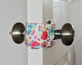 Naptime & Roses Door Silencer, Door Jammer, Nursery Door Silencer, Door cushion, Door latch cover, baby shower gift, PATENTED LATCHY CATCHY