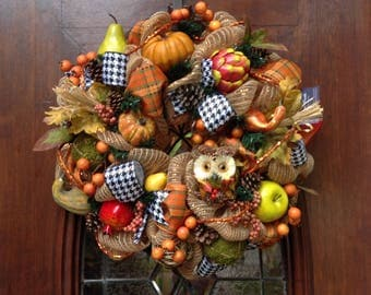 Whimsical Fall or Anytime Wreath