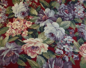 2 Yards of Beautiful Quilt Cotton Floral Fabric with Roses