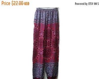 "SALE Ethnic batik pants yoga harem hippie S 25-28"""