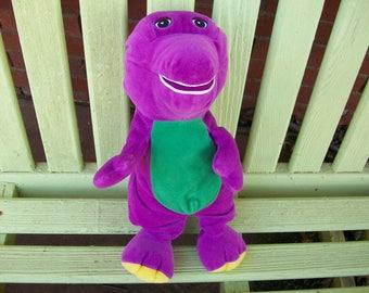 Vintage Velour Like  Stuffed Barney