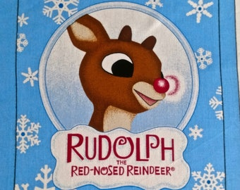 Rudolf the Red Nose Reindeer Book Fabric Panel